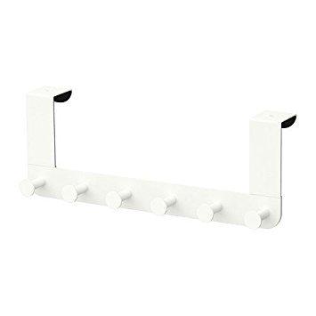 IKEA Enudden Aufhänger für Tür, Metall, weiß mit 6 Hacken zum aufhängen