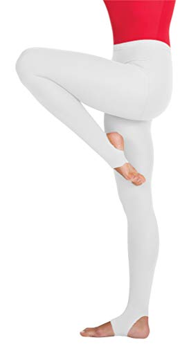Body Wrappers Womens totalSTRETCH Stirrup Tights (White, Large/X-Large) - A32