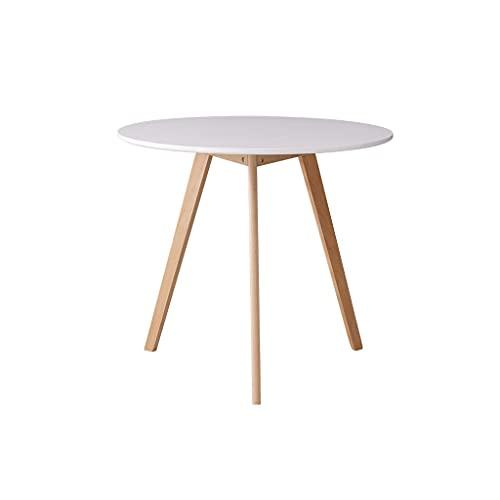 Mesa plegable portátil al aire libre Moderna mesa de comedor redonda de madera maciza simple de madera para hornear para hornear Piano Mesa de comedor de cocina adecuada para sala de estar Cocina Mesa