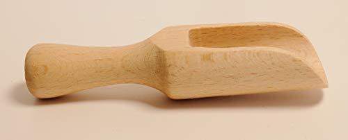 """Mini-Holzschaufel Holzlöffel Salzlöffel Löffel Küchenutensilien Milchpulver Kaffee Tee Süßigkeiten Holz Schäufelchen Füllschaufel Puppenstube gedrehte Ausfäuhrung """"EINWEG"""" -verpackt (1, klein)"""