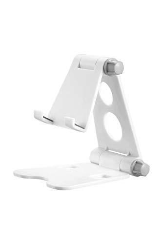 Soporte de teléfono plegable para teléfono móvil, multiángulo, soporte de escritorio, soporte para tablet universal (color: blanco)