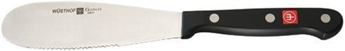 WÜSTHOF Gourmet 5 Inch Spreader Knife | 5' German Sandwhich Spreader with Serrated Edged Blade | Precise Laser Cut High Carbon Stainless Steel Condiment Spreader Knife – Model 2801-7