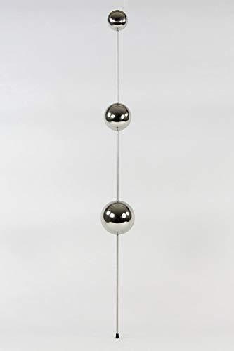 HeuSa Tech Edelstahlkugel 1x3 Schwimmkugel, Dekoration, Rosenkugel, Durchmesser Ø 6/8/10 cm mit Stab