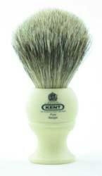 Kent Brushes BK2 tejón Pure Badger y mango de resina