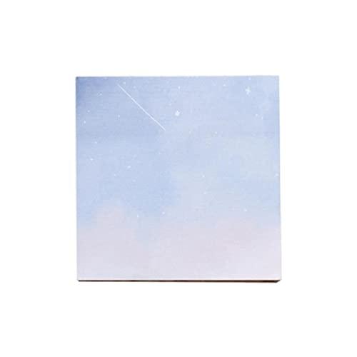 Bloc de notas de pintura al óleo, 80 hojas, portátil, duradero, fácil de escribir pintura al óleo, ideal para maestros, pintor, notas de oficina, notas para profesores, refrigerador, 80 hojas, 3 x 3