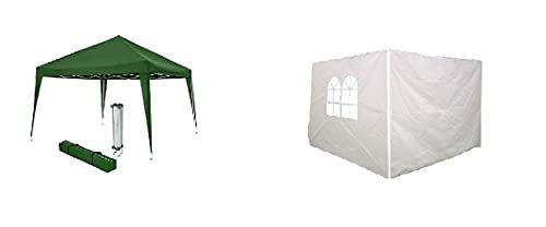 Pergola de jardín 3x3 Plegable con 2 Laterales, Carpa para Exteriores Plegable, Carpa Plegable 3x3 Ideal para Uso en Playa, Camping, Jardines, terrazas, Fiestas