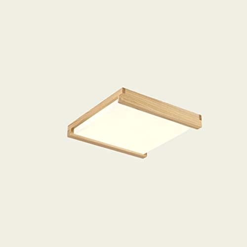 YANQING Duurzame Plafondlampen Nordic LED Plafondlamp Houten Eenvoudige Ultradunne Slaapkamer Studie Woonkamer Verlichting Plafondlampen (Kleur : Neutraal Licht)