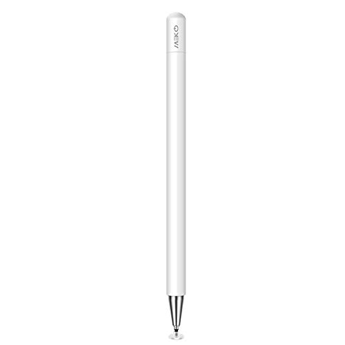 MEKO Eingabestift Disc Touch Pen, 2 in 1 Stylus Pen universal Touchstift 100% kompatibel mit Allen Tablets Touchscreen iPhone iPad Surface Huawei usw, magnetische Kappe (weiß)