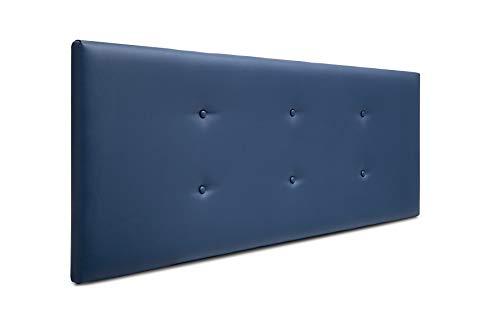 SUENOSZZZ-ESPECIALISTAS DEL DESCANSO Cabecero de Cama Bruselas tapizado en Polipiel para Camas de 135 (145 x 57 cm) Polipiel Azul