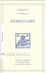 SOREN AABYE KIERKEGAARD ( 1813-1885), A BIBLIOGRAPHIC CATALOGUE