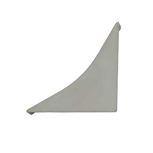 DQ-PP WINKELLEISTE ENDSTÜCK | Aluminium matt | 23 x 23mm | PVC | Küchenleiste Arbeitsplatte Abschlussleiste Leiste Küche Küchenabschlussleiste Wandabschlussleiste Tischplattenleisten