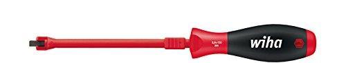 WIHA 398040125 32869 SoftFinish-Destornillador Plano con función de sujeción (4 x 125 mm), 0 W, 0 V, 4,0 mm x 125 mm