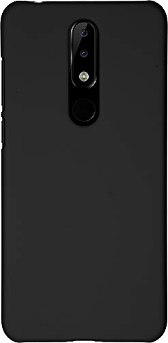 Baluum Hardcase gummierte Schwarze Hülle für Nokia 5.1 Plus (Nokia X5) Schutzhülle Hülle Cover Handyhülle Backcover Hartschale aus robusten Kunststoff