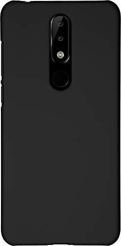 Baluum Hardcase gummierte Schwarze Hülle für Nokia 5.1 Plus (Nokia X5) Schutzhülle Case Cover Handyhülle Backcover Hartschale aus robusten Kunststoff