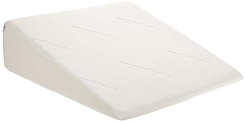 AmazonBasics Memory Foam Bed Wedge Pillow - Mini, 24'x24'x7'