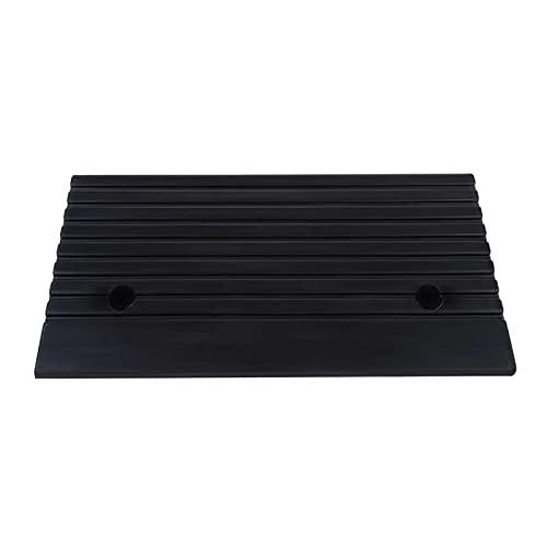 Rampas de umbral Rampas de rampa de Goma portátil de 2 Piezas Rampas para la Moto de la Moto de la Moto Rampa de umbral de Silla de Ruedas accesibilidad Ayuda (Color : Black, Size : 48.7x24x10cm)