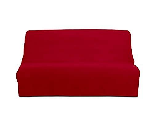 Soleil d'Ocre 100031 Panama Housse Clic-Clac- Funda sofá-cama de algodón, color rojo, 200 x 140 cm