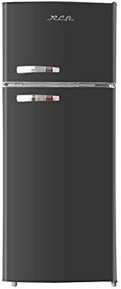 RCA RFR786 BLACK 2 Door Apartment Size Refrigerator with Freezer 7 5 cu ft Retro Black product image
