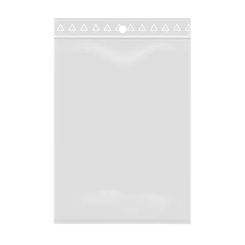 Lotto di 100 sacchetti trasparenti con chiusura a zip - Plastica adatta agli alimenti (8 x 12 cm)