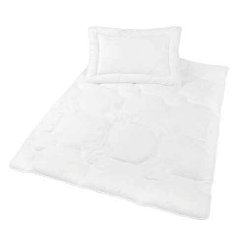 Zollner cuscino e coperta trapuntata per neonati e bambini, 40x60 e 100x135 cm
