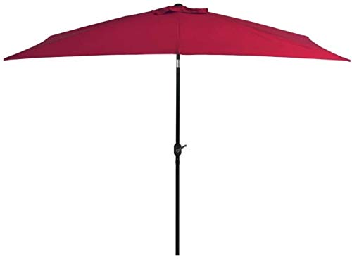 SHANCL Outdoor Umbrella Outdoor Parasol with Metal Pole 300 * 200cm Red Umbrella Shade Outdoor parasol