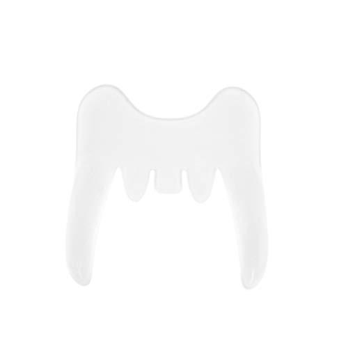 Amosfun Dentes falsos de Vampiro Dente de Vampiro Dentes de Zumbi Presas para Cosplay Masquerade Party Adereços
