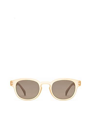 OLO LUNETTES Mod. R2 Gafas De Sol Lentes Marrón UV400 Unisex Amarillo