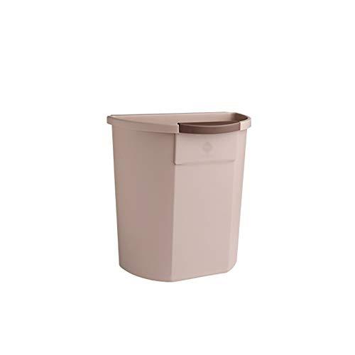 Lpiotyuljt Cubo Basura Reciclaje, La Bote de Basura se Puede Colocar en la Sala de Estar, el baño del Dormitorio PP Tipo de Colgante de la Papelera con Anillo de presión (Color : Brown)