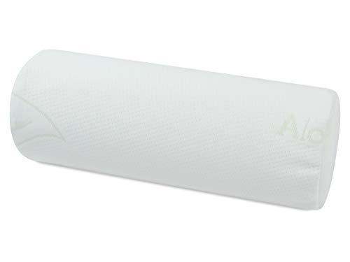 npluseins Nackenrolle - 40 x 15 cm - ergonomisch geformt mit Aloe Vera 1518.2191, Nackenrolle ca 40 x 15 cm