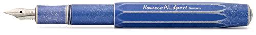 Kaweco Füllfederhalter Al Sport Blau I Premium Füllfederhalter Luxus für Tintenpatronen mit hochwertiger Stahlfeder I Kaweco Sport Füller 13,5 cm Stonewashed Blue Federbreite: M (Medium)