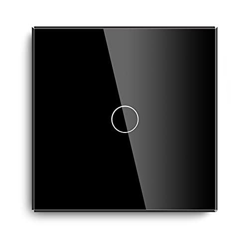 Zhang Asia MVAVA 1 GAND 2 Way 3 Way STOR STRIRS STRIPTE UE STANDE Touch Touch Touch STRIPTE Blanco Negro Blanco con Panel DE Cristal Cristal Mejora (Color : Black 1 Piece, Standard : EU Standard)