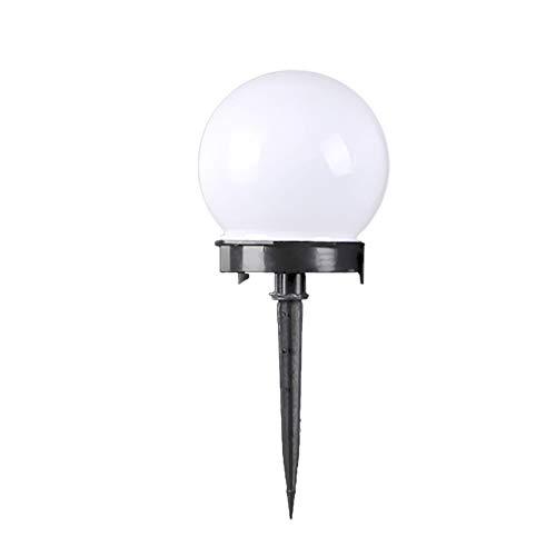Mobestech - Lámpara solar de suelo redonda con pantalla de lámpara impermeable para la iluminación de terrazas de jardín