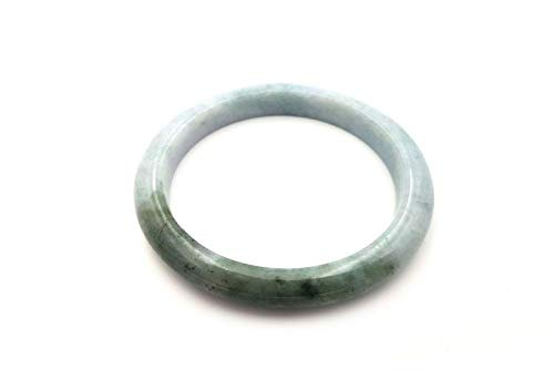 Objetschino – Pulsera de jade auténtica con certificado – Categoría – Pulsera de jade – 5,90 cm – blanco y verde imperial