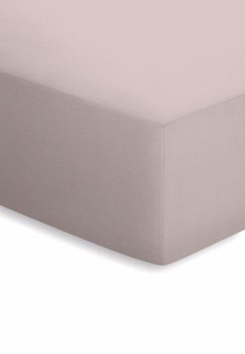 schlafgut Jersey-Elasthan Spannbetttuch, Baumwoll-Mischgewebe, Kiesel, 220 x 100 x 1 cm