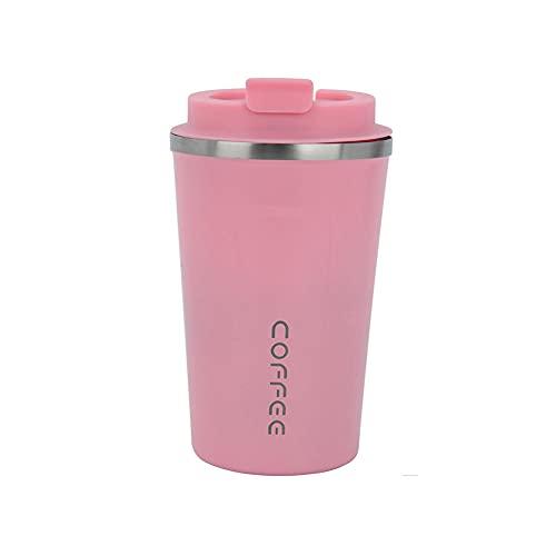 BAWAQAF Taza de café, 380ml/510ml sellado botella de café aislada, portátil una llave abierta deportes al aire libre taza de agua, viaje de coche