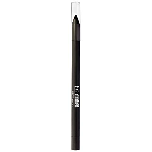 Maybelline New York – Crayon Gel Effet Tatouage Yeux – Waterproof avec Tenue Extrême jusqu'à 36h – Tattoo Liner – 900 Deep Onyx (Noir Intense)