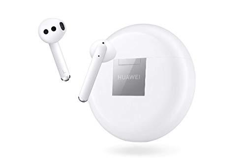 HUAWEI FreeBuds 3 - Auriculares Inalámbricos con Cancelación de Ruido Activa (Chip Kirin A1, Baja Latencia, Conexión Bluetooth Ultrarápida, Altavoz de 14 mm, Carga Inalámbrica) Color Blanco