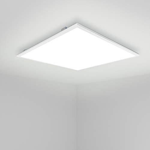 [Pro High Lumen]OUBO LED Panel 30x30cm Neutralweiß 4000K quadratisch 18W 1700 Lumen Weißrahmen LED Wandleuchte Deckenleuchte für Büroräume, Flure, Messehallen, inkl. Trafo und Anbauwinkel