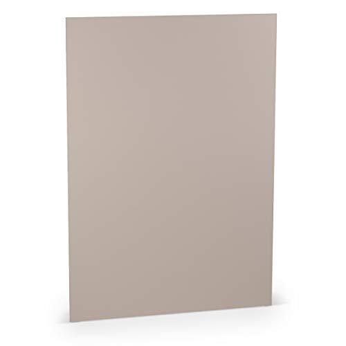 Rössler Papier - - Paperado-5er Pack Blätter DIN A4 220, Taupe - Liefermenge: 10 Stück