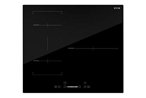 EVVO Glaskeramik-Kochfeld V60 DUO 3 Kochzonen + Bridge Zone 35,4 cm, 60 cm Breite, Glaskeramik, 7200 W, 4 Kochmodi