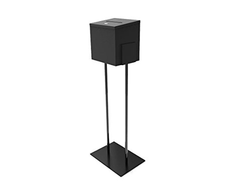 FixtureDisplays Metal Ballot Box Donation Box Suggestion Box with Stand 11064+10918-BLACK-NEW