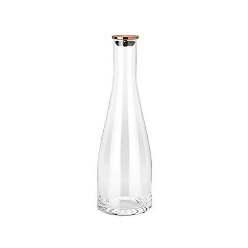Xiaoqiang Koud Water Fles Glas Koud Water Fles Grote Capaciteit Ijs Water Fles Noordse Eenvoudige Koelkast Water Fles 1l