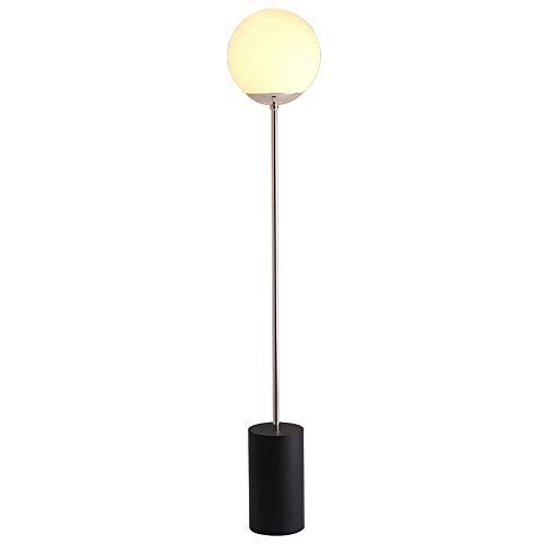 Europese ijzeren vloerlampen, creatieve ronde ronde glazen bal, verticale vloerlamp moderne onbelangrijke slaapkamer-studeer-sofa-vloerlamp-Scandinavische gang, nachtkastje vloerlamp,