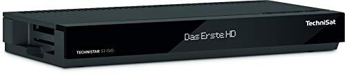TechniSat TECHNISTAR S3 ISIO – HD Sat Receiver (HDTV, Aufnahmefunktion via USB, LAN, HbbTV, Mediatheken, DVB-S2, HDMI, Scart, App-Steuerung, CI+ Schnittstelle ) schwarz