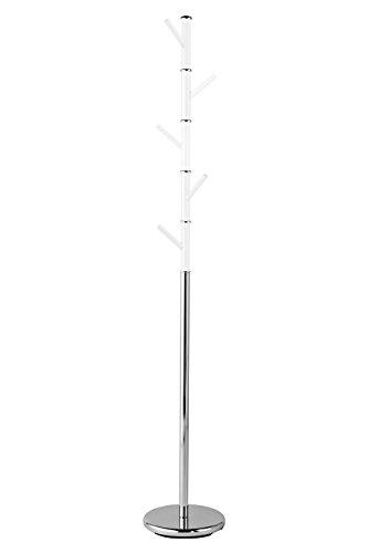 Premier Housewares kledingrek, acryl, verchroomd metaal, wit, 29 x 29 x 173 cm