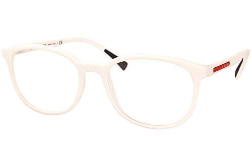 Prada LINEA ROSSA 0PS 07LV Monturas de gafas, White Rubber, 53 para Hombre