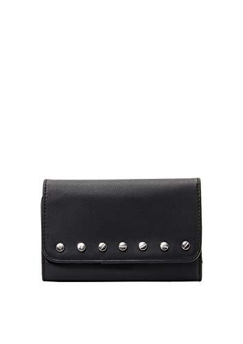 s.Oliver (Bags) 39.912.93.2502 - Portafoglio da donna, 1 x 10 x 15,5 cm, colore: grigio/nero