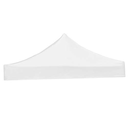 HomeDecTime Toile de Toit de Rechange pour Pavillon Tonnelle Tente - Blanc, 3x3m