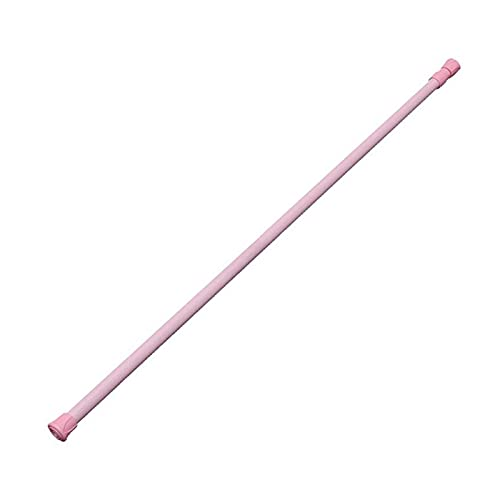 BAINUO JBNWY - Colgador telescópico para cortina de ducha para ventana y armario, barra colgante duradera (color rosa de 60 a 110 cm)
