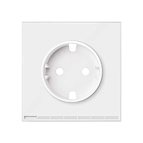 Tapa iO para la base de enchufe Schuko, serie 100, 2,5 x 7,1 x 7,1 centímetros, color blanco (referencia: 10002041-230)